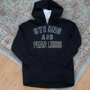 EUC Gap sherpa lined hooded zipper jacket size  8